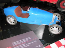 Bugatti toy model, exhibited at the National Museum of Cars. Stock Image