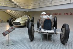 National Technical Museum Prague - Bugatti 51 Grand Prix. Bugatti two-seater roadster made in France, 1931 royalty free stock images