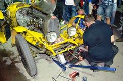 Bugatti typ 35A 1925 na 1000 milach ras obraz stock