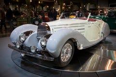 1938 Bugatti-Type 57c de Open tweepersoonsauto uitstekende auto van Gangloff Royalty-vrije Stock Afbeeldingen