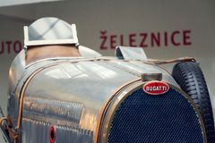 Bugatti Type 51 premier racing car from 1931 stands in National technical museum. PRAGUE, CZECH REPUBLIC - NOVEMBER 10: Bugatti Type 51 premier racing car from Stock Photo