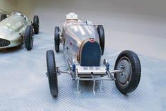 Bugatti Type 51 racing car, National Technical Museum, Prague, Czech Republic. Bugatti Type 51 premiere racing car from 1931 stands in the National Technical Royalty Free Stock Photography