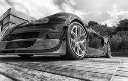Bugatti Veyron στην επίδειξη στο Πόρτο Cervo στη Σαρδηνία Το Bugatti είναι ένα γαλλικό αυτοκίνητο μΑ στοκ φωτογραφίες