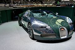 Bugatti Veyron 2014. At Geneva motor show Royalty Free Stock Photo