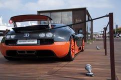 Bugatti Veyron alaranjado e preto Imagem de Stock Royalty Free