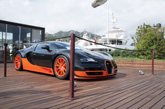 Bugatti Veyron black and orange Royalty Free Stock Photo