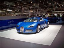Bugatti veyron. Blue bugatti veyron in International Motor Show GE 2009 Royalty Free Stock Photography