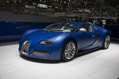 Bugatti Veyron Centenaire. At the Geneva Motor Show 2009 Edition.  This is the 79th edition of this annual international car event that brings together Royalty Free Stock Photo