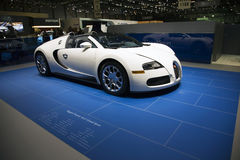 Bugatti Veyron Centenaire. At the Geneva Motor Show 2009 Edition.  This is the 79th edition of this annual international car event that brings together Stock Photo