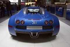 Bugatti Veyron Centenaire - salone dell'automobile 2009 di Ginevra Fotografie Stock Libere da Diritti