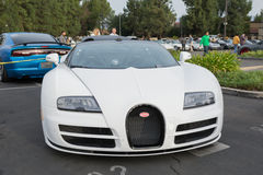 Bugatti Veyron on display Stock Photography