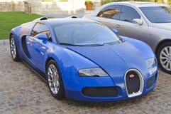 Bugatti Veyron EB 16.4 die in Doubai, de V.A.E wordt geparkeerd Stock Foto