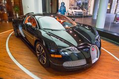 Bugatti Veyron EB 16.4. Designed and developed by the Volkswagen Group and manufactured in Molsheim, France, by Bugatti Automobiles S.A.S Royalty Free Stock Image