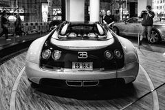 The Bugatti Veyron EB 16.4 is a mid-engined grand touring car. Stock Photo