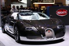 Bugatti Veyron en la demostración de motor 2010, Ginebra Fotografía de archivo