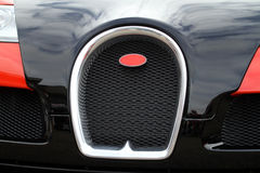 Bugatti Veyron front. The front and hood of a Bugatti Veyron Stock Image
