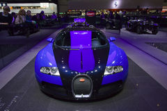 Bugatti Veyron Front View. Bugatti Veyron is presented at 77th International Motor Show March 9, 2007 in Geneva Stock Photos