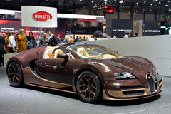 Bugatti Veyron at the Geneva Motor Show. The Bugatti Veyron at the Geneva Motor Show 2014 Royalty Free Stock Photo