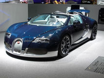 Bugatti Veyron Grand Sport. At 81st edition of International Motorshow Geneva 2011 Royalty Free Stock Photos
