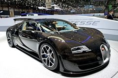 Bugatti Veyron Grand Sport Vitesse 2014. At Geneva motor show Stock Images