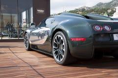 Bugatti Veyron green and aluminum Royalty Free Stock Image