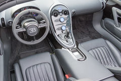 Bugatti Veyron interior on display Royalty Free Stock Photo