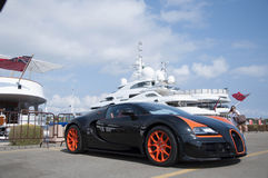 Bugatti Veyron  in italy Royalty Free Stock Photography