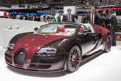 2015 Bugatti Veyron La Finale. Presented the 85th International Geneva Motor Show Royalty Free Stock Image