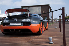 Bugatti Veyron orange and black Royalty Free Stock Image