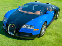2007 Bugatti Veyron. PLYMOUTH, MI/USA - JULY 27, 2012: A 2007 Bugatti Veyron car on display at the Concours d'Elegance of America Stock Image