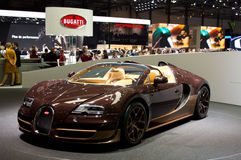 Bugatti Veyron Pur Sang Geneva 2014 Image stock