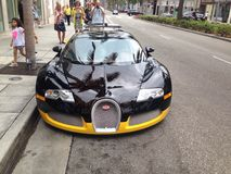 Bugatti Veyron. A Bugatti Veyron on Rodeo Drive in Beverly Hills Royalty Free Stock Image