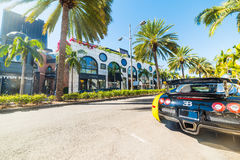 Bugatti Veyron in Rodeo Drive, Beverly hills Royalty Free Stock Photo