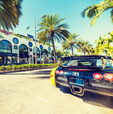 Bugatti Veyron in Rodeo Drive, Beverly hills Stock Image