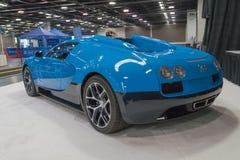 Bugatti Veyron su esposizione fotografia stock