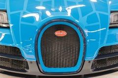 Bugatti Veyron su esposizione immagini stock libere da diritti