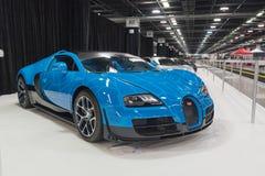 Bugatti Veyron su esposizione fotografie stock libere da diritti