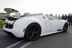 Bugatti Veyron su esposizione fotografia stock libera da diritti