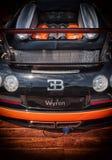 Bugatti Veyron su esposizione a Oporto Cervo in Sardegna Bugatti è un'automobile francese mA fotografie stock