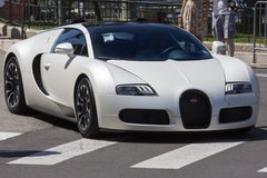 Bugatti Veyron Supercar. The Bugatti Veyron EB 16.4 is a mid-engined grand touring car, designed and developed by the Volkswagen Group. It is the fastest street Royalty Free Stock Images