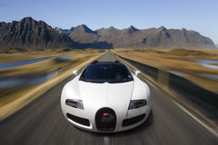 Bugatti Veyron Supercar - AutomobielTechnologie Stock Foto