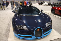 Bugatti Veyron 2016. Bugatti Veyron Supercar 2015 at Chicago car show 2015 Stock Photo