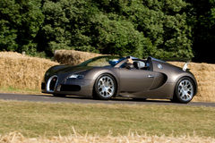 Bugatti veyron on track at Goodwood Festiva. L of Speed on july, 1 2010 in Goodwood England Royalty Free Stock Photos