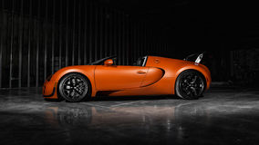 Bugatti Veyron Vitesse. An orange Bugatti Veyron Vitesse Stock Photo