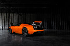 Bugatti Veyron Vitesse. An orange Bugatti Veyron Vitesse Royalty Free Stock Photography
