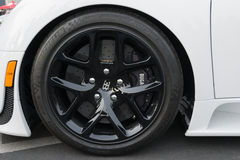 Bugatti Veyron wheels on display Stock Photo