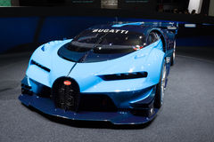 2015 Bugatti Vision Gran Turismo Concept. Frankfurt, Deutschland - September 15, 2015: Bugatti Vision Gran Turismo Concept presented on the 66th International Royalty Free Stock Images