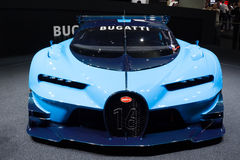 2015 Bugatti Vision Gran Turismo Concept. Frankfurt, Deutschland - September 15, 2015: Bugatti Vision Gran Turismo Concept presented on the 66th International Royalty Free Stock Photos