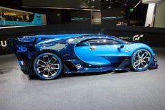 Bugatti Vision Gran Turismo. FRANKFURT, GERMANY - SEP 16, 2015: Bugatti Vision Gran Turismo world debut at the IAA 2015 Stock Photos