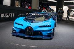 Bugatti Vision Gran Turismo - world premiere. Frankfurt international motor show (IAA) 2015. Bugatti Vision Gran Turismo - world premiere Stock Photos